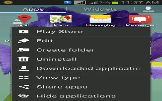 How To Create Folders - Samsung Galaxy Note 3