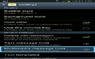 How To Customize Message Settings - Samsung Galaxy Note 3