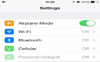 How To Use Airplane Mode - iPhone 5S