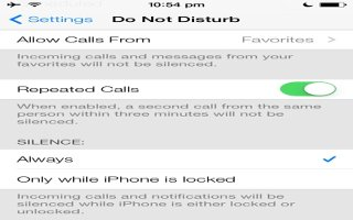 How To Use Do Not Disturb Settings - iPhone 5C