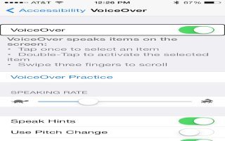 How To Learn VoiceOver Gestures - iPhone 5C