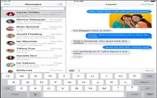 How To Use Messages - iPad Air