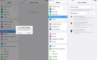 How To Use Personal Hotspot - iPad Air