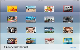 How To Use Newsstand App - iPad Air