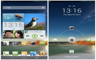 How To Use Home Screens - Huawei Ascend Mate