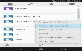 How To Backup Contacts - Sony Xperia Z1
