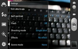 How To Use Camera Settings Samsung Galaxy Tab 3