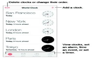 How To Use Clock App - iPhone 5C
