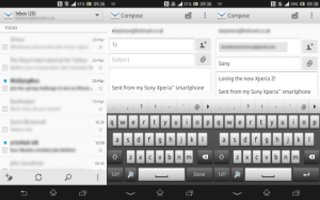 How To Use Email Messages - Sony Xperia Z Ultra