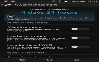 How To Improve Battery Life - Sony Xperia Z1