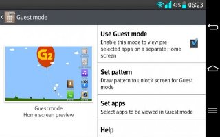 How To Use Guest mode - LG G2