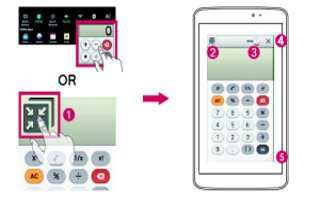 How To Use Qslide - LG G Pad