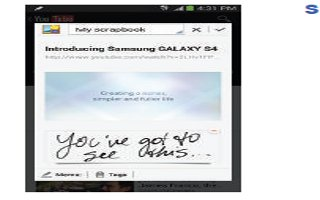 How To Use Scrapbook - Samsung Galaxy Note 3