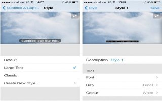 How To Customize Subtitles And Closed Captions - iPhone 5C