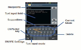 How To Configure Swype Settings - Samsung Galaxy Tab 3
