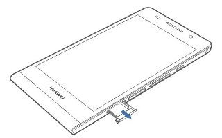 How To Insert SIM Card - Huawei Ascend P6