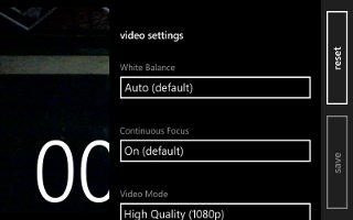 How To Use Video Camera Settings - Nokia Lumia 928