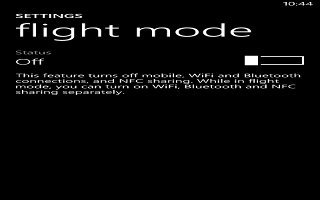 How To Use Airplane Mode - Nokia Lumia 2520