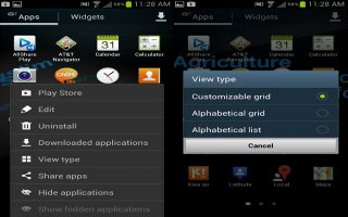 How To Move Icons In Apps Menu - Samsung Galaxy S4 Active