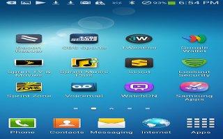 How To Use Home Screen - Samsung Galaxy Mega