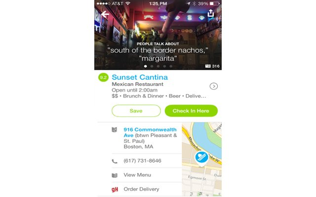Foursquare App Lets You Order In Local Resturant