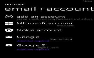 How To Use Nokia Accounts - Nokia Lumia 2520