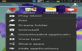 How To Create Folders - Samsung Galaxy Mega