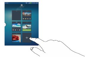 How To Add And Delete Home Screens - Samsung Galaxy S4 Active