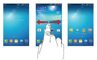 How To Navigate Home Screen - Samsung Galaxy S4 Active