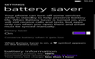 How To Improve Battery Life - Nokia Lumia 2520