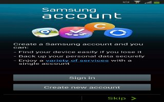 How To Create Samsung Account - Samsung Galaxy S4 Active