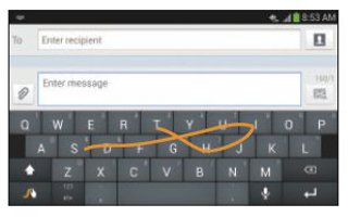 How To Use Swype Keypad Settings - Samsung Galaxy Mega