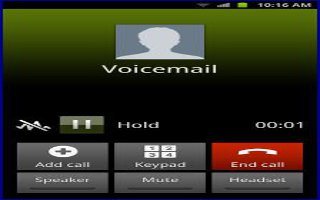 How To Use Voicemail - Samsung Galaxy Mega