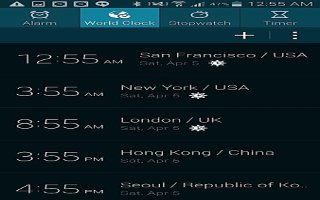 How To Use Stopwatch - Samsung Galaxy S5