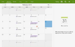 How To Use Calendar - Samsung Galaxy Note Pro
