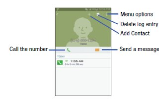 How To Use Call Logs - Samsung Galaxy S5