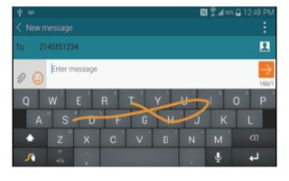 How To Enter Text Using Swype - Samsung Galaxy S5