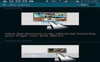 How To Use Air view - Samsung Galaxy S5