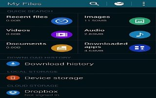 How To Use My Files - Samsung Galaxy S5
