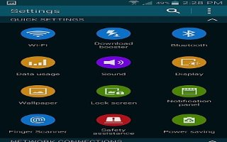 How To Use Quick Settings - Samsung Galaxy S5