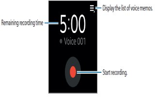 How To Use Voice Memo App - Samsung Gear 2