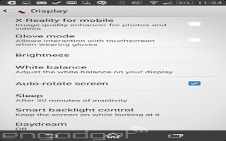 How To Use Display Settings -  Sony Xperia Z2