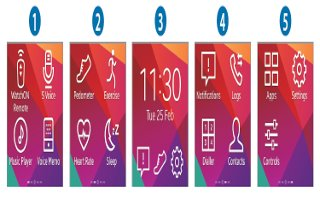 How To Use Home Screen - Samsung Gear 2 Neo