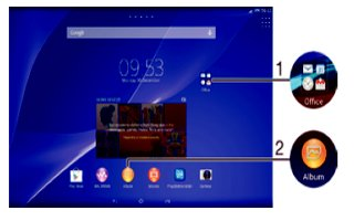 How To Use Shortcuts - Sony Xperia Z2 Tablet