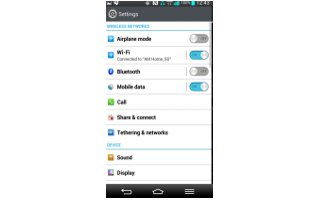 How To Use Bluetooth - LG G Pro 2