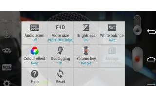 How To Use Video Camera Settings - LG G Pro 2