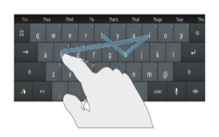 How To Enter Text Using Swype - Samsung Galaxy Tab 4