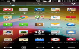 How To Use Home Screen - LG G Pro 2