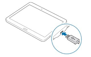 How To Charge Battery - Samsung Galaxy Tab S