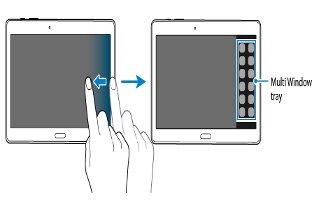 How To Use Multi Window - Samsung Galaxy Tab S